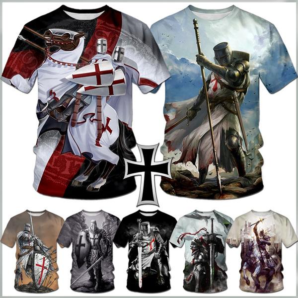 Mens T Shirt, knightstemplar, Shirt, sacredcro