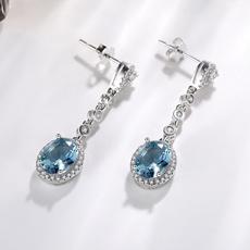 Blues, arete, mujer, Jewelry