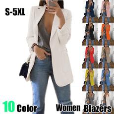 Plus Size, Blazer, Winter, Long Coat