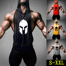 bodybuildingvest, sleevelessvest, Cotton, Hoodies