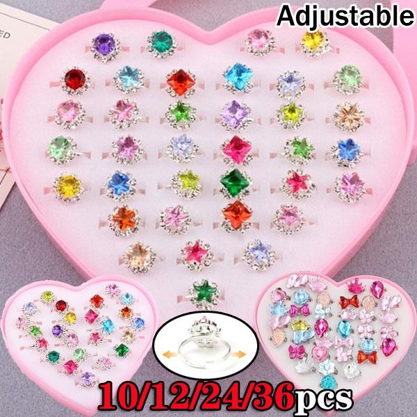 Box, adjustablering, crystal ring, Gifts