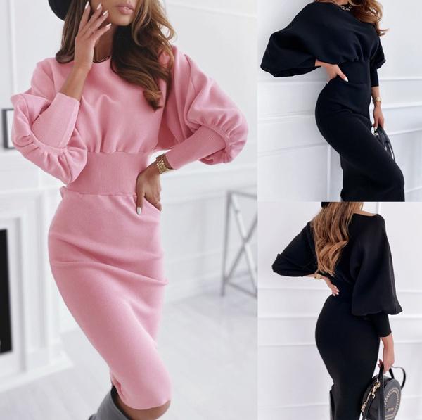 Fashion, sleeve dress, Winter, Sleeve