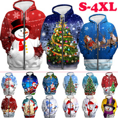 3D hoodies, Plus Size, Christmas, printed