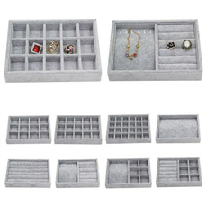 Gray, velvet, Jewelry, Storage