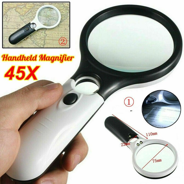 magnifyingglas, Loupes, 45xmagnifier, lights