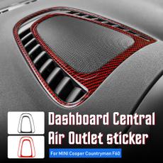Mini, Car Sticker, Fiber, Carbon