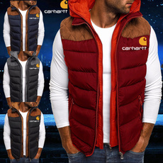 Vest, menzipperjacket, Winter, puffervest