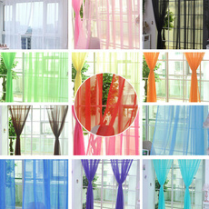 yarncurtain, transparentcurtain, Home & Living, Glass