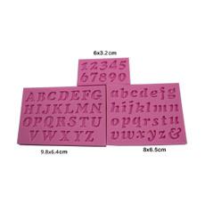 Mini, letter print, Silicone, cake mold