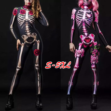 Plus Size, Cosplay, Skeleton, halloweengift