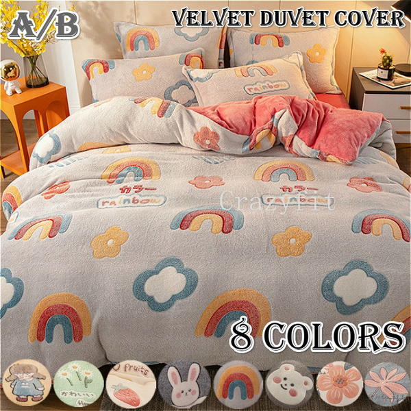 thickenquiltcover, winterbeddingset, velvetduvetcover, quiltcover
