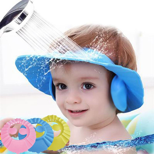 Bath, shield, Waterproof, babywashhairsafeshampooshowercap