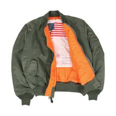 flightjacket, Casual Jackets, Nylon, Winter