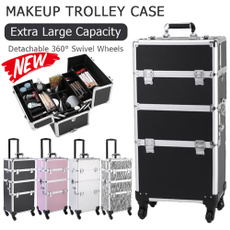 trolleycase, aluminummakeupcase, Maquillaje, Aluminum