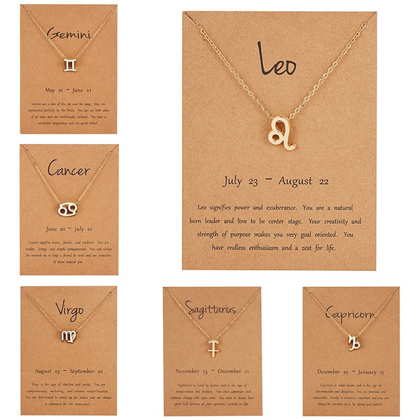 constellationnecklace, zodiacsignnecklace, Star, Chain