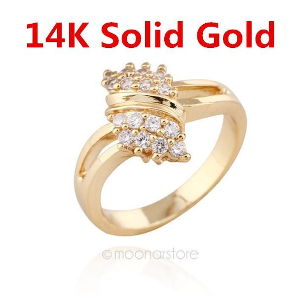 Jewelry, gold, 18 k, 18kgoldplatedring