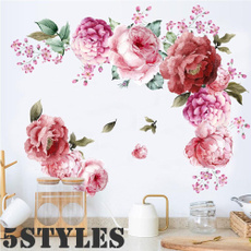 peonywallsticker, Decor, Flowers, art