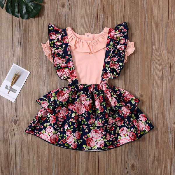 ruffle, Clothes, Floral, Dress