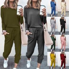 runningpantswomen, joggingpant, Two-Piece Suits, Necks