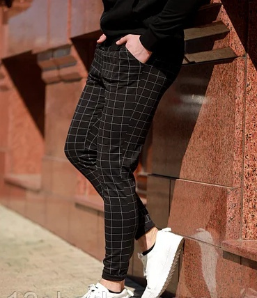Trousers & Shorts, trousers, black