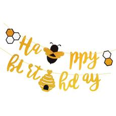 birthdaypartybanner, honeybeebanner, party, hangingbanner