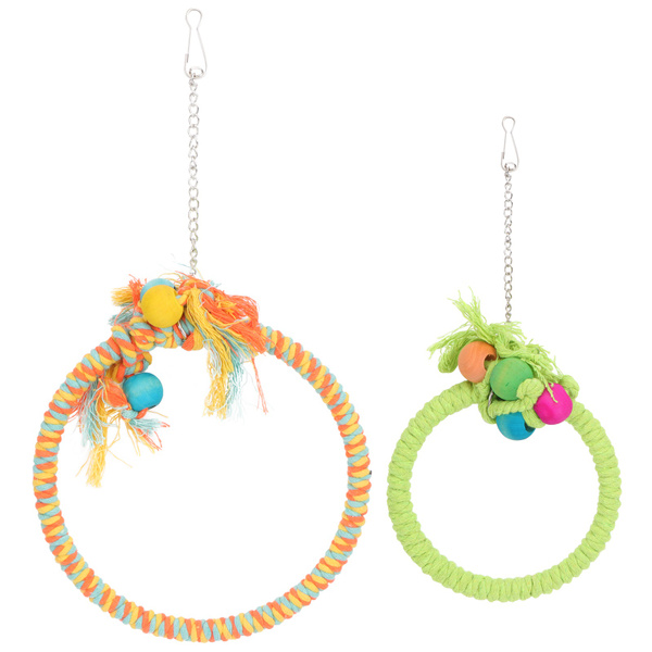 Toy, Colorful, cottonropeparrotswing, parrotcottonropeswing