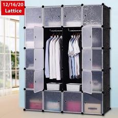 Plastic, translucentpp, storgecabinet, Clothes