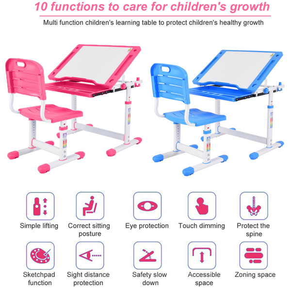 Adjustable, tilteddesktop, deskchair, childen