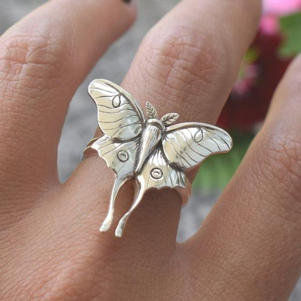 Sterling, butterfly, Fashion, wedding ring