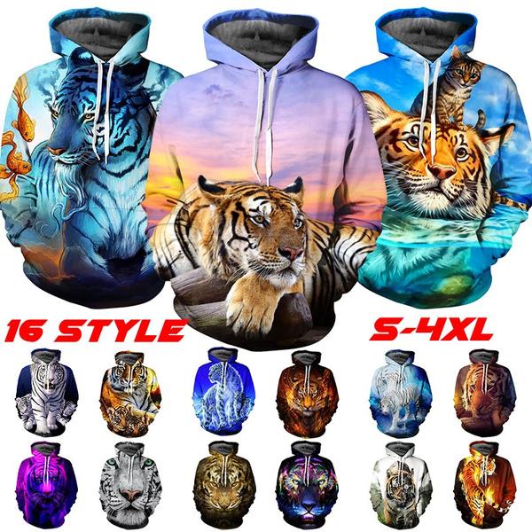Couple Hoodies, Plus Size, hooded, Animal