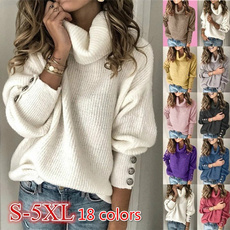 Plus Size, Winter, Sleeve, womens pullovers