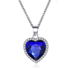 Heart, crystalrhinestonenecklace, Jewelry, Gifts