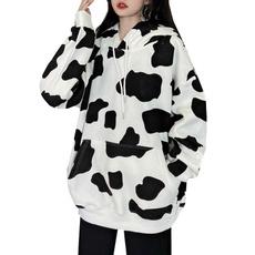 hooded, cow, Sleeve, Long Sleeve