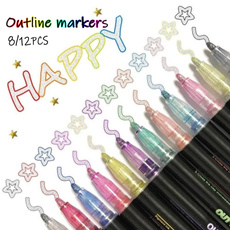 art, Christmas, coloringmarker, outlinepen