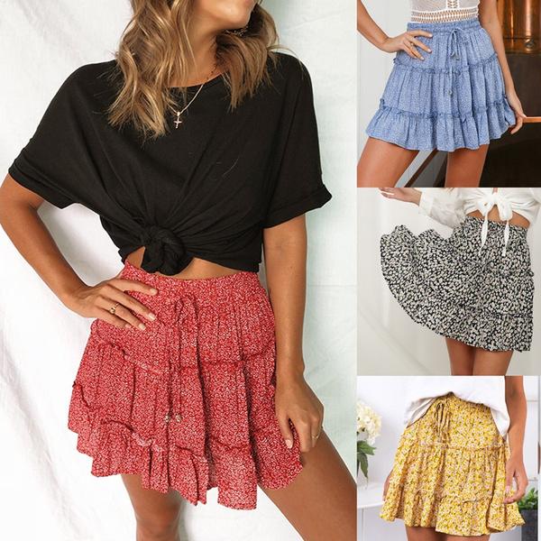 skirtforwomen, Skater Skirt, summer skirt, ruffled