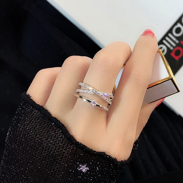 Couple Rings, adjustablering, DIAMOND, wedding ring