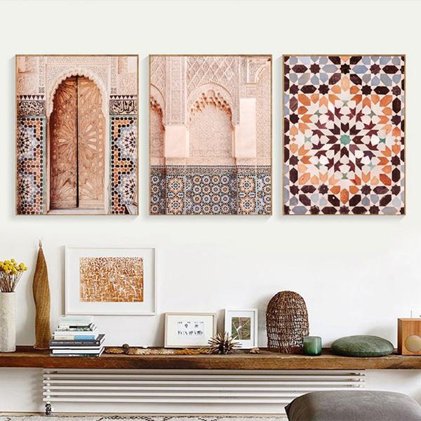 moroccanarchitecturepicture, moroccanarchitecturecanvaspainting, Decor, islamicwallart