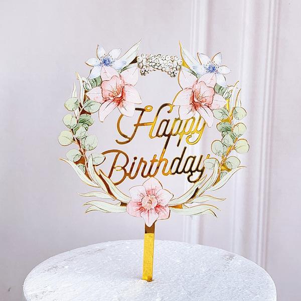 happybirthday, cardarrangement, Flowers, lights