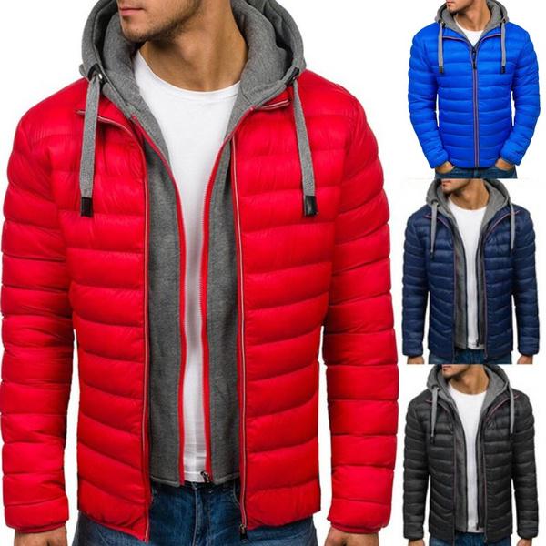 Casual Jackets, men coat, Plus Size, hooded