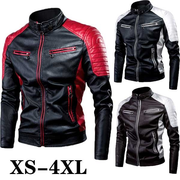 Fleece, warmjacket, PU, leather