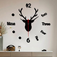 Fashion, Wall Art, Home Decor, 3dwallclock
