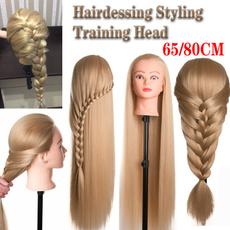 trainingheadmannequin, Head, femalemannequin, hightemperaturefiberhair