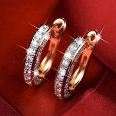 Sterling, roseearring, Hoop Earring, Gemstone Earrings