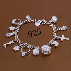 Sterling, wristbandbracelet, Moda, Joyería
