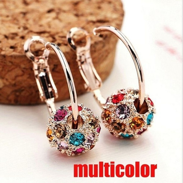 Sterling, Fashion, gold, Stud Earring