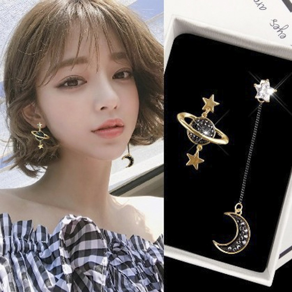 moonearring, DIAMOND, Star, Jewelry