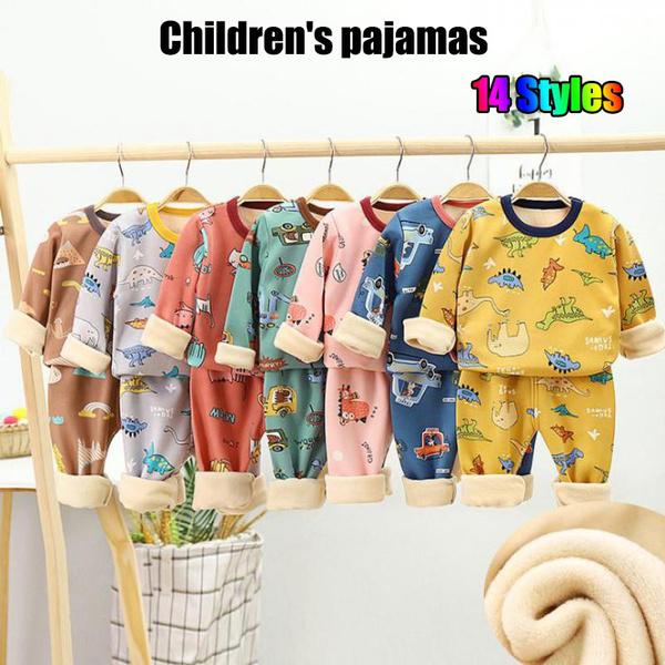 kidspajama, Underwear, velvet, Winter