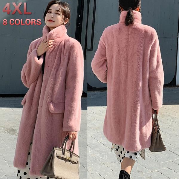 fauxfurjacket, fur coat, tcasualloosecoat, Fashion