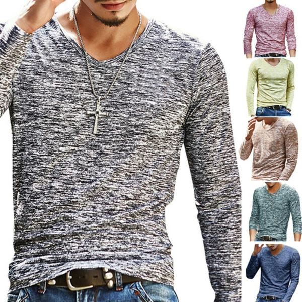 Fashion, vnecktop, Men, casual shirt