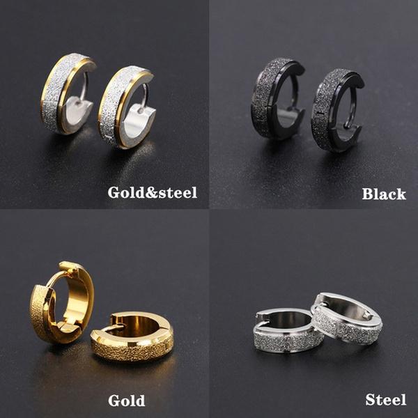 Mens Earrings, piercedearring, titanium steel, punk earring